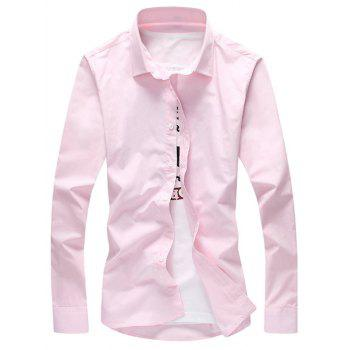 Turn Down Collar Button Casual Shirt