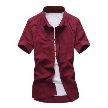 Turn Down Collar Casual Shirt