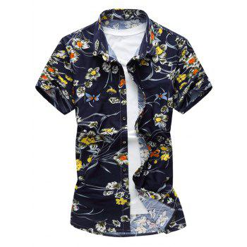 Short Sleeved Flower Shirt