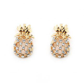 Hollowed Pineapple Shape Stud Earring