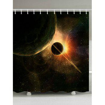Waterproof Planet Galaxy Shower Curtain