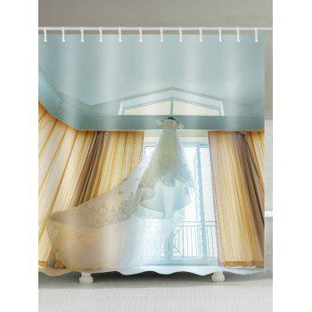 Long Tail Wedding Dress Shower Curtain