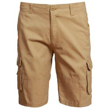 Zip Fly Shorts with Multi Pockets
