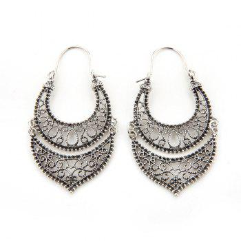 Roman Hollow Out Layered Earrings