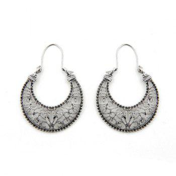 Moon Shape Hollow Out Drop Earrings