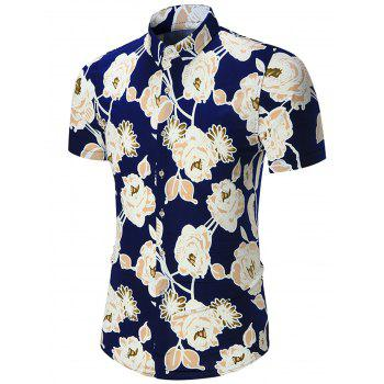 Plus Size Flowers Print Shirt