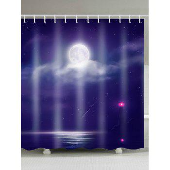 Lighthouse In The Sea Bathroom Shower Curtain