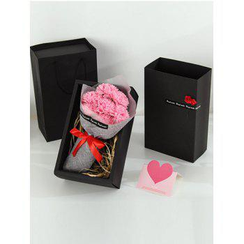 7 Pcs Creative Soap Carnations Artificial Flowers Mother's Day Gift