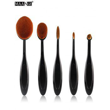 MAANGE 5Pcs Oval Toothbrush Design Facial Brushes Set