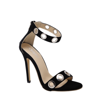Hollow Out Stiletto Heel Zip Sandals