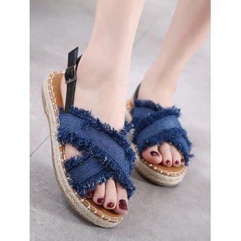 Denim Buckle Strap Sandals