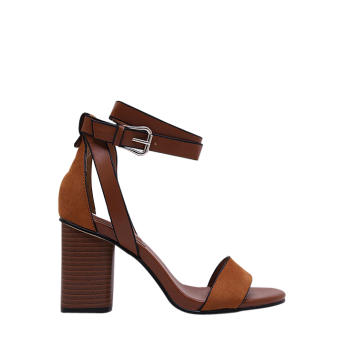 Retro Chunky Heel and Ankle Strap Design Sandals For Women