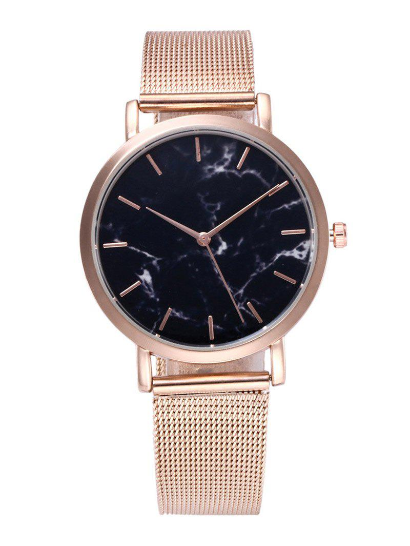 Image of Steel Mesh Strap Marble Texture Watch