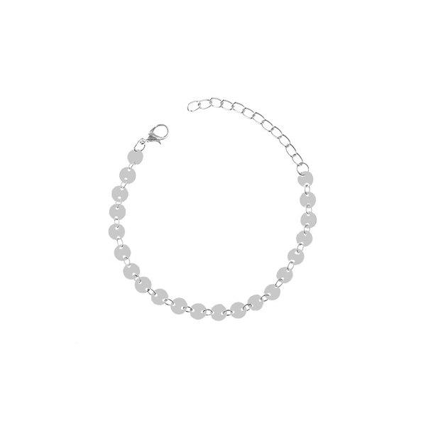 Adjustable Sparkly Sequin Anklet - Argent