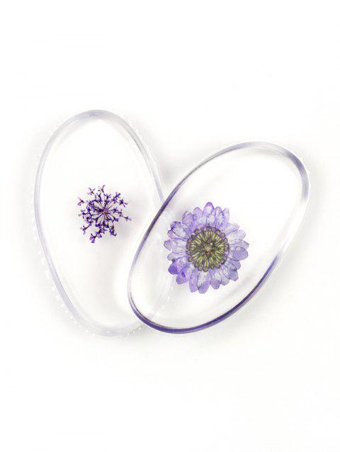 SIXPLUS Dried Flower Embedded Silicone Makeup Sponges - LIGHT PURPLE
