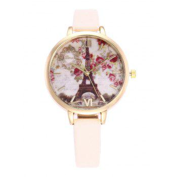 Roman Numeral Floral Eiffel Tower Watch