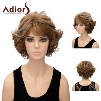 Adiors Shaggy Layered Short Side Bang Wavy Highlight Synthetic Wig