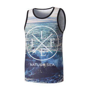 Life Graphic Mesh Tank Top