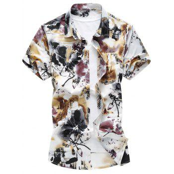Chinese Ink and Wash Painting Casual Shirt