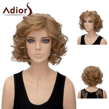 Adiors Short Shaggy Layered Side Part Wavy Synthetic Wig