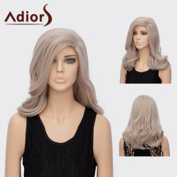 Adiors Long Side Parting Layered Slightly Curly Synthetic Wig