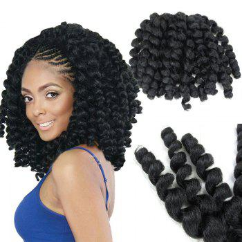 1 Piece Afro Synthetic Wand Curl Hair Extension