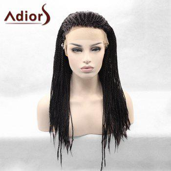 Adiors Long Lace Front Afro Twist Braids Synthetic Wig