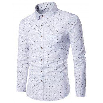 Box Print Long Sleeve Pocket Shirt