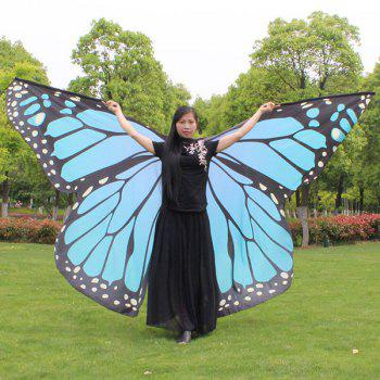 Water Resistant Butterfly Wing Cape Chiffon Pashmina - Azur
