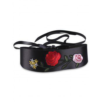 Chinoiserie Flower Embroidery Retro Corset Belt