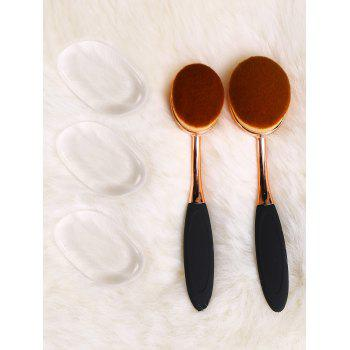 Toothbrush Shape Brush Set and Silicone Makeup Sponges