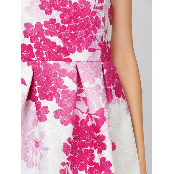 Floral Sleeveless Short Dress - L L