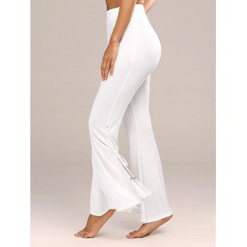 Tassels Side Slit High Waist Flare Pants