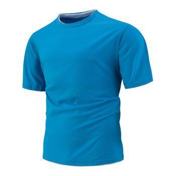 Slim Fit Short Sleeve T-Shirt - LAKE BLUE LAKE BLUE