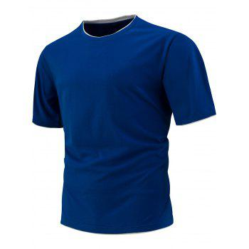 Slim Fit Short Sleeve T-Shirt - ROYAL ROYAL