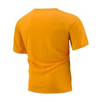 Slim Fit Short Sleeve T-Shirt - ORANGE ORANGE