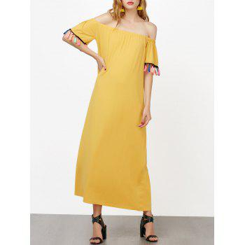Off The Shoulder Short Sleeve Maxi Dress