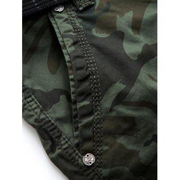 Knee Length Cargo Camo Shorts - 34 34