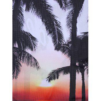 3D Trees Graphic Print Débardeur Hawaiian Openwork - multicolorcolore 2XL