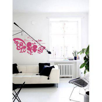 Happy Mothers day Heart Wall Sticker -  DEEP PINK