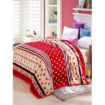 Polka Dot Printing Super Soft Sofa Nap Bedding Throw Blanket