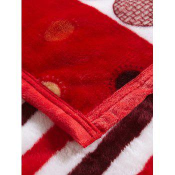 Polka Dot Printing Super Soft Sofa Nap Bedding Throw Blanket - RED QUEEN