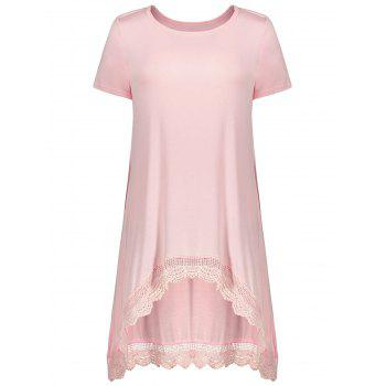 Lace Panel Asymmetrical Tee