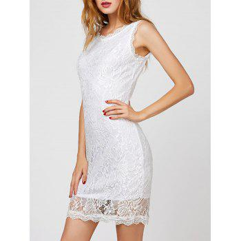 Back Cutout Lace Bodycon Dress