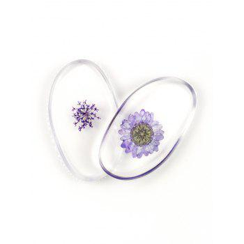 SIXPLUS Dried Flower Embedded Silicone Makeup Sponges - LIGHT PURPLE LIGHT PURPLE