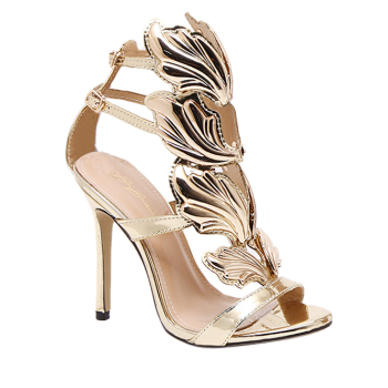 Double Belt Buckle Stiletto Heel Sandals