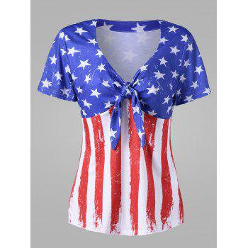 Plus Size Empire Waist American Flag T-Shirt