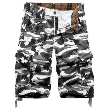 Camo Print Army Cargo Shorts - ACU CAMOUFLAGE 38