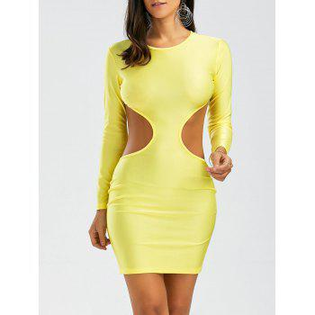 Open Back Cut Out Long Sleeve Bodycon Dress