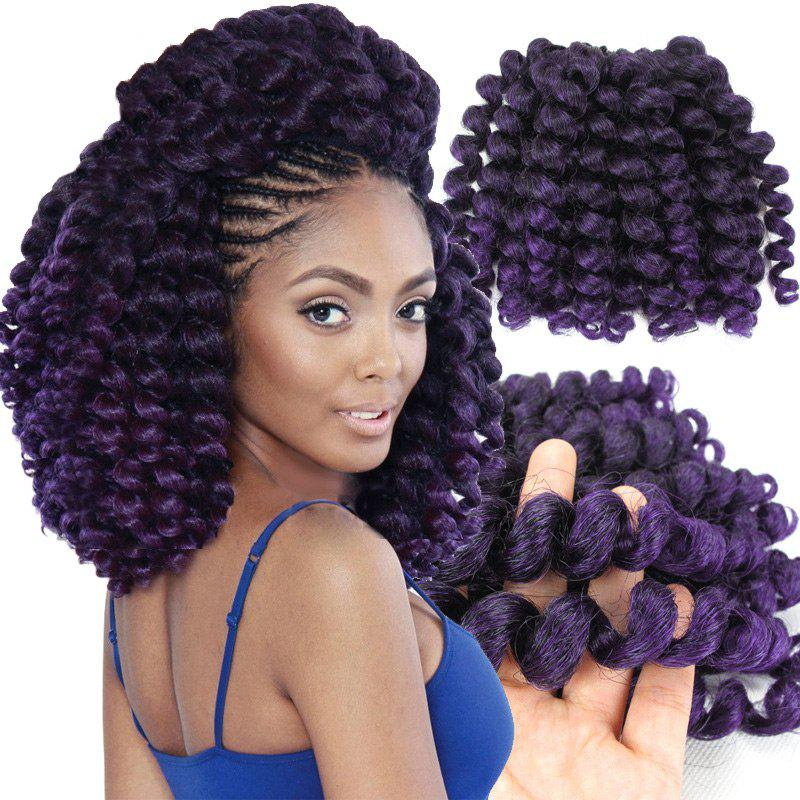 1 Piece Afro Synthetic Wand Curl Hair Extension - GRADUAL PURPLE
